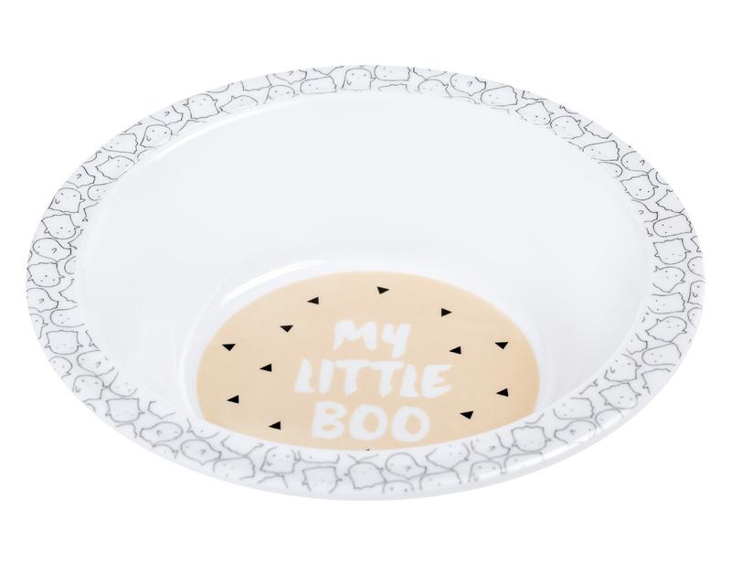 LÄSSIG - detská mistička, Bowl with Silicone Little Spookies peach