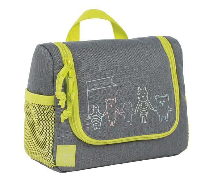 LÄSSIG - Detská taštička na hygienu Mini Washbag About Friends mélange grey
