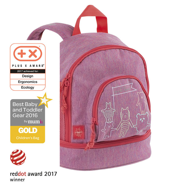 LÄSSIG - Detský batoh Mini Backpack About Friends mélange pink