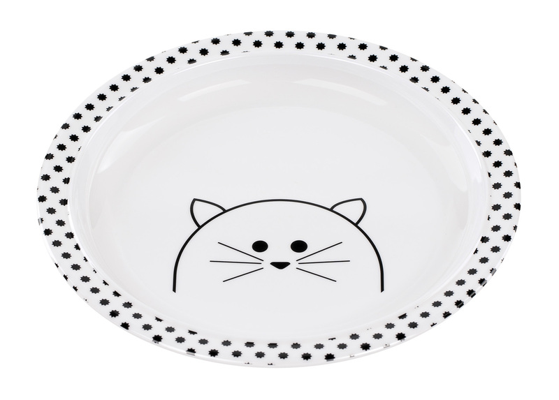 LÄSSIG - Detský tanier Plate with Silicone Little Chums cat