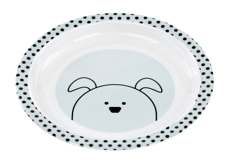 LÄSSIG - Detský tanier Plate with Silicone Little Chums dog