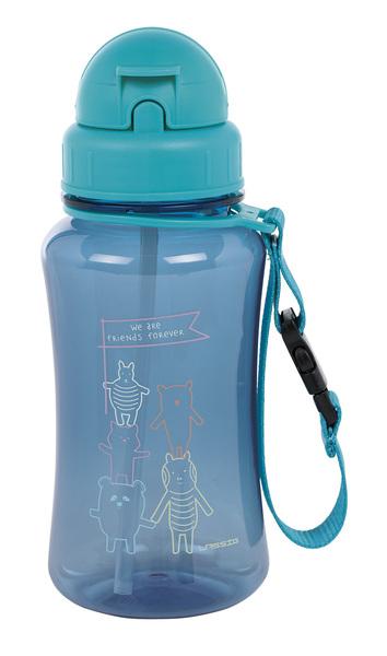 LÄSSIG - Fľaša Drinking Bottle About Friends blue