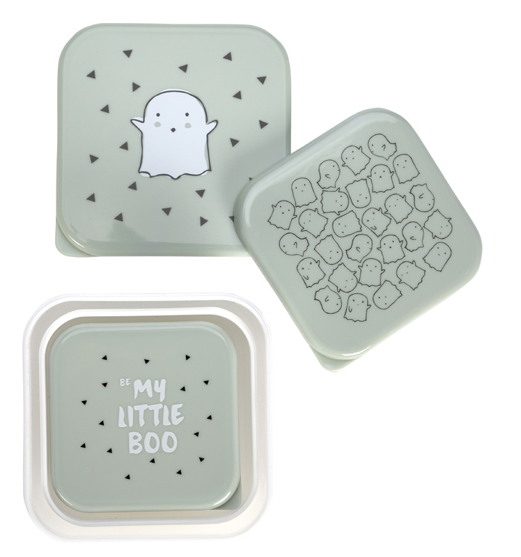 LÄSSIG - krabičky na jedlo, Snackbox Little Spookies olive