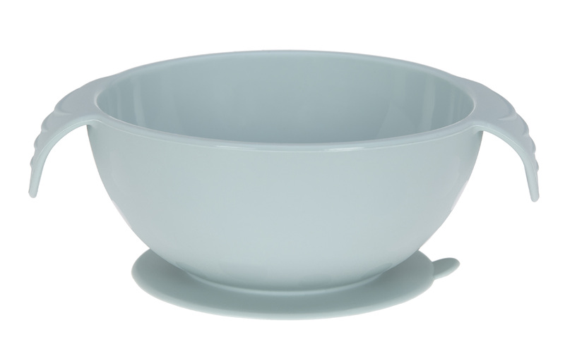 LÄSSIG - miska Bowl Silicone blue with suction pad