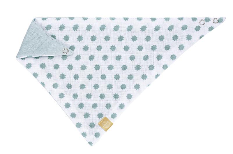 LÄSSIG - Podbradník Bandana Muslin Little Chums Stars mint