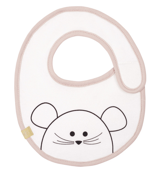 LÄSSIG - Podbradník Small Bib Waterproof Little Chums mouse