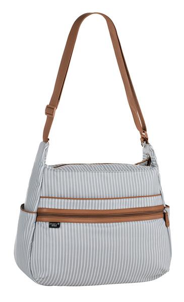 LÄSSIG - Taška na rukoväť Marv Urban Bag pinstripe light grey