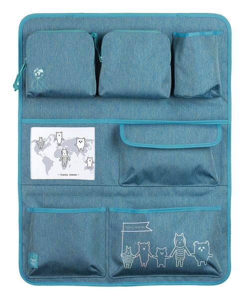 LÄSSIG - Vreckár Car Wrap-to-Go About Friends mélange blue