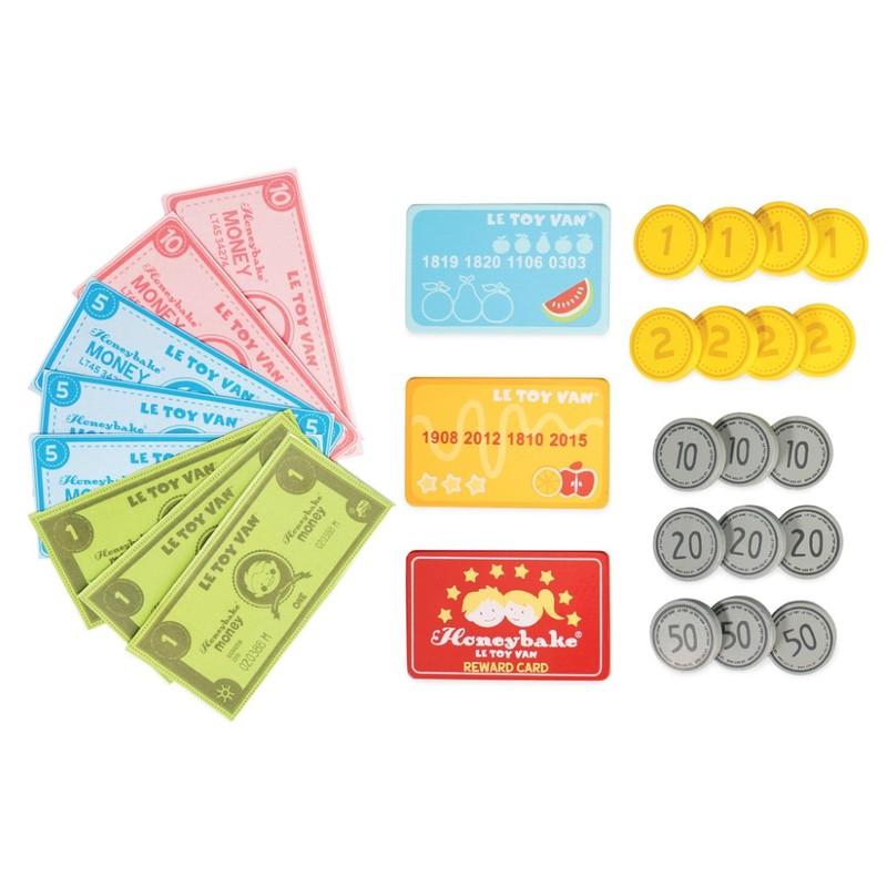 LE TOY VAN - Set peniaze a platobné karty na hranie
