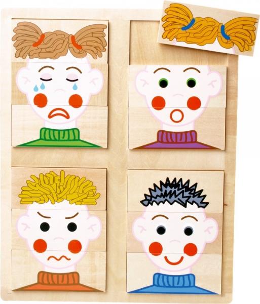 LEGLER - Drevené puzzle - Emócie