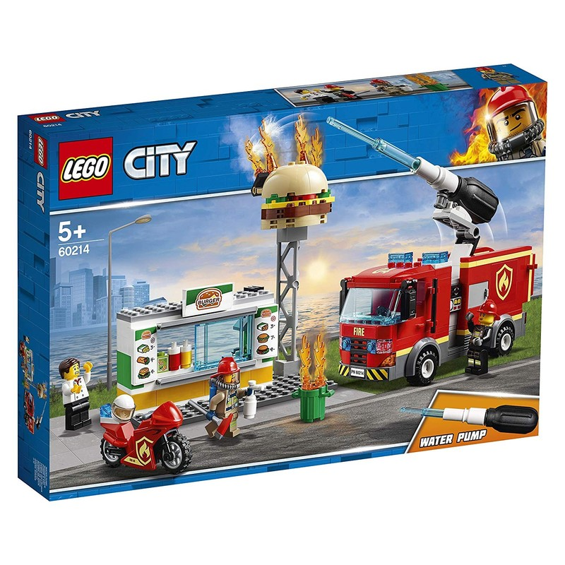 LEGO - City 60214 Zásah hasičov v burgrárni