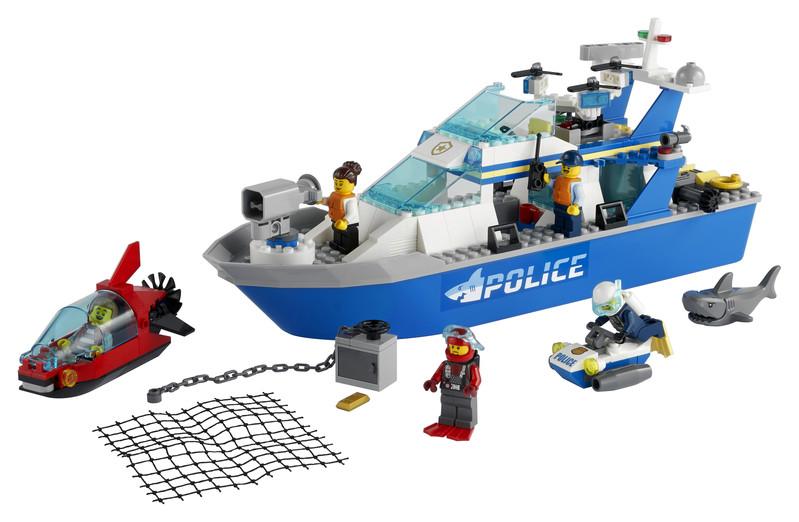 LEGO - City 60277 Policajná hliadková loď
