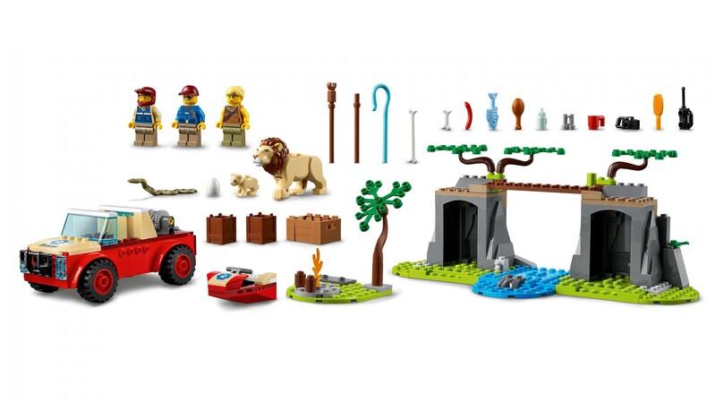 LEGO - City 60301 Záchranárske terénne auto do divočiny