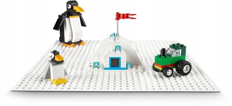 LEGO - Classic 11010 Biela podložka na stavanie