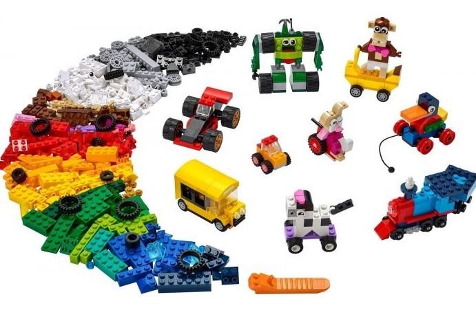 LEGO - Classic 11014 Kocky a kolesá