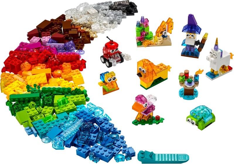 LEGO - Classic11013 Priehľadné kreatívne kocky