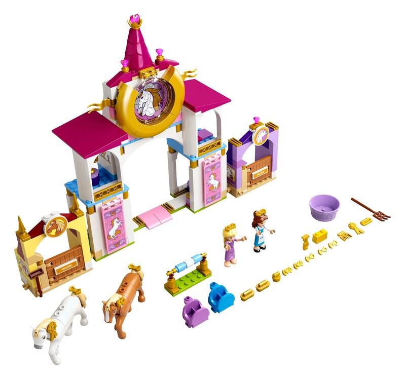 LEGO - Disney Princess 43195 Kráľovské stajne Krásky a Rapunzel