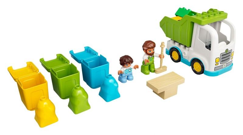 LEGO - DUPLO® 10945 Smetiarske auto a recyklovanie