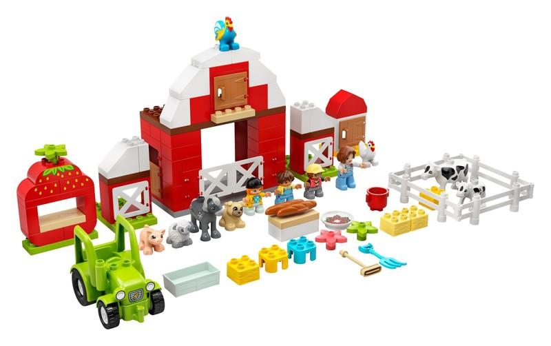 LEGO - Duplo 10952 Stodola,traktor a zvieratká z farmy
