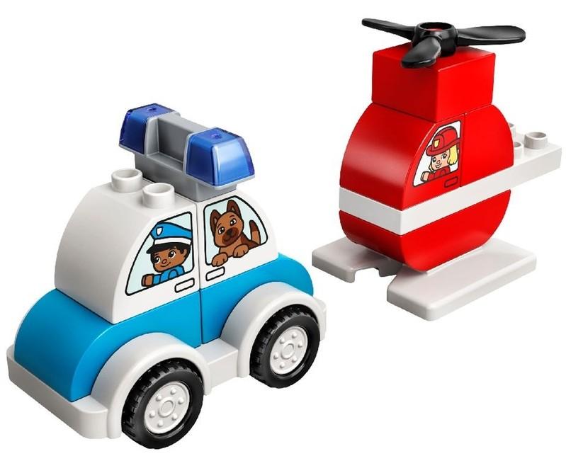 LEGO - DUPLO 10957 Hasičský vrtuľník a policajné auto