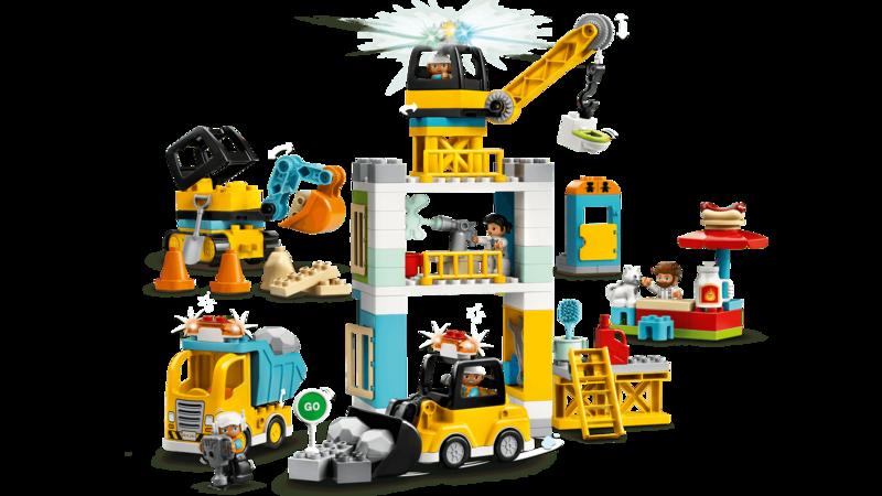 LEGO - DUPLO®10933 Stavba s vežovým žeriavom