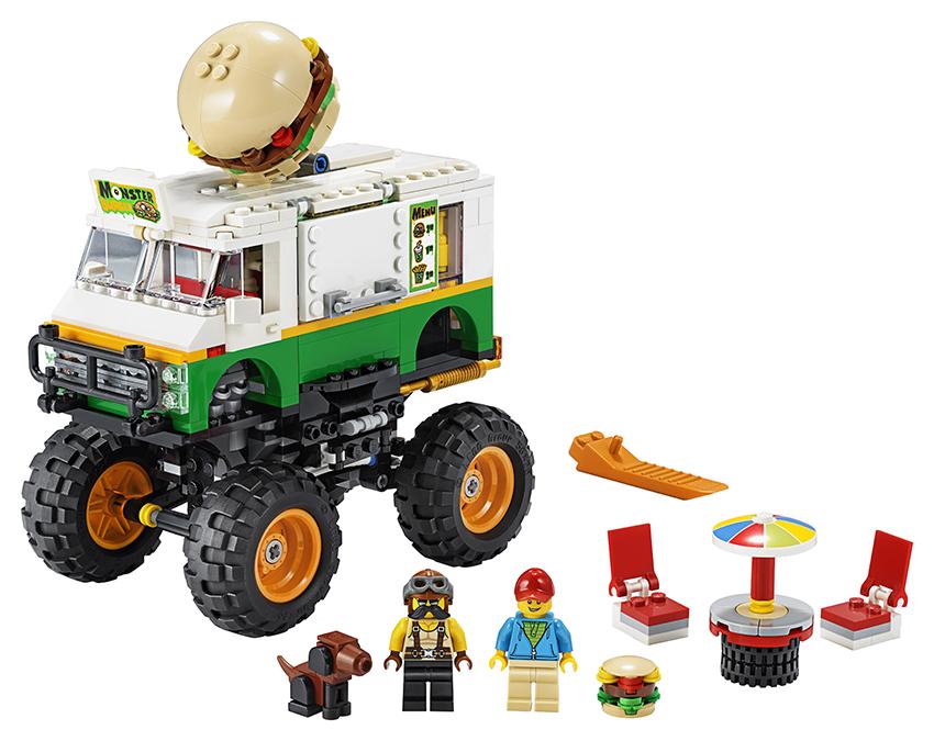 LEGO - Hamburgerový Monster Truck