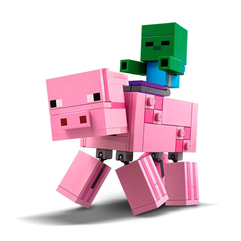 LEGO - Minecraft 21157 Veľká figúrka: Prasa a malé zombie