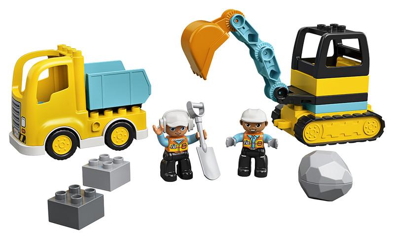 LEGO - Nákladiak a pásový bager