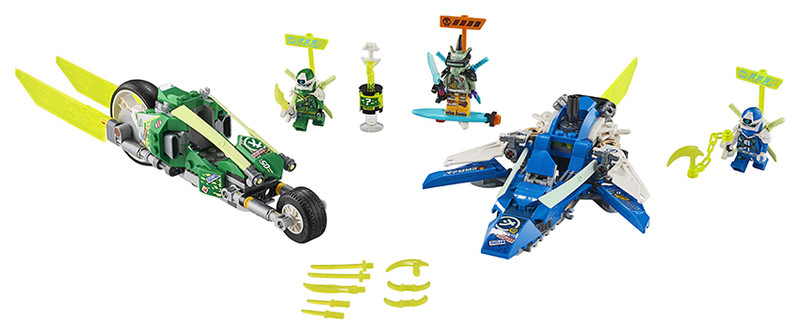 LEGO - Ninjago 71709 Rýchla jazda s Jayom a Lloydom
