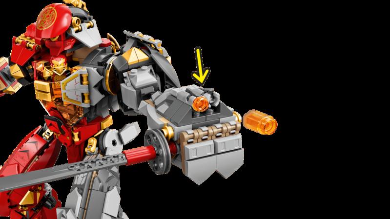 LEGO - Ninjago 71720 Robot ohňa a kameňa
