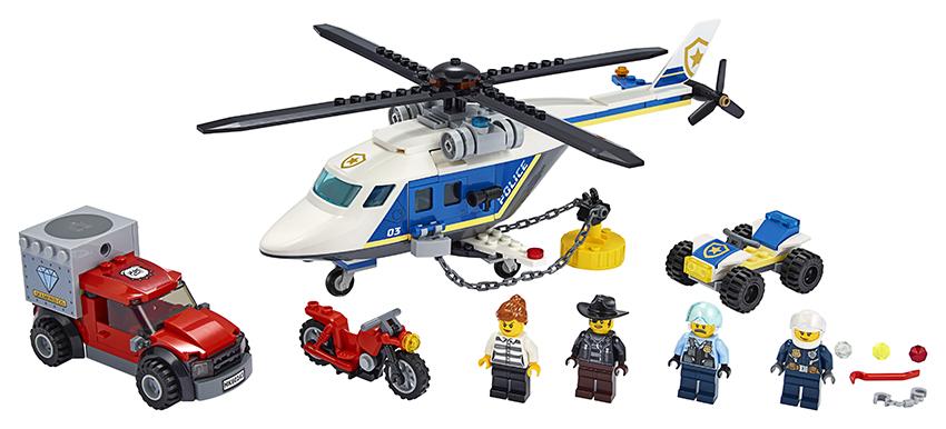 LEGO - Prenasledovanie Policajnou Helikoptérou