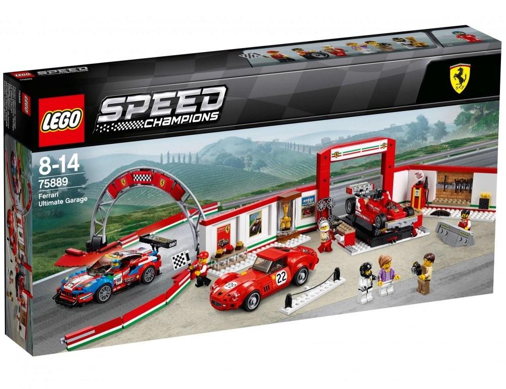 LEGO - Speed Champions 75889 Úžasná garáž Ferrari