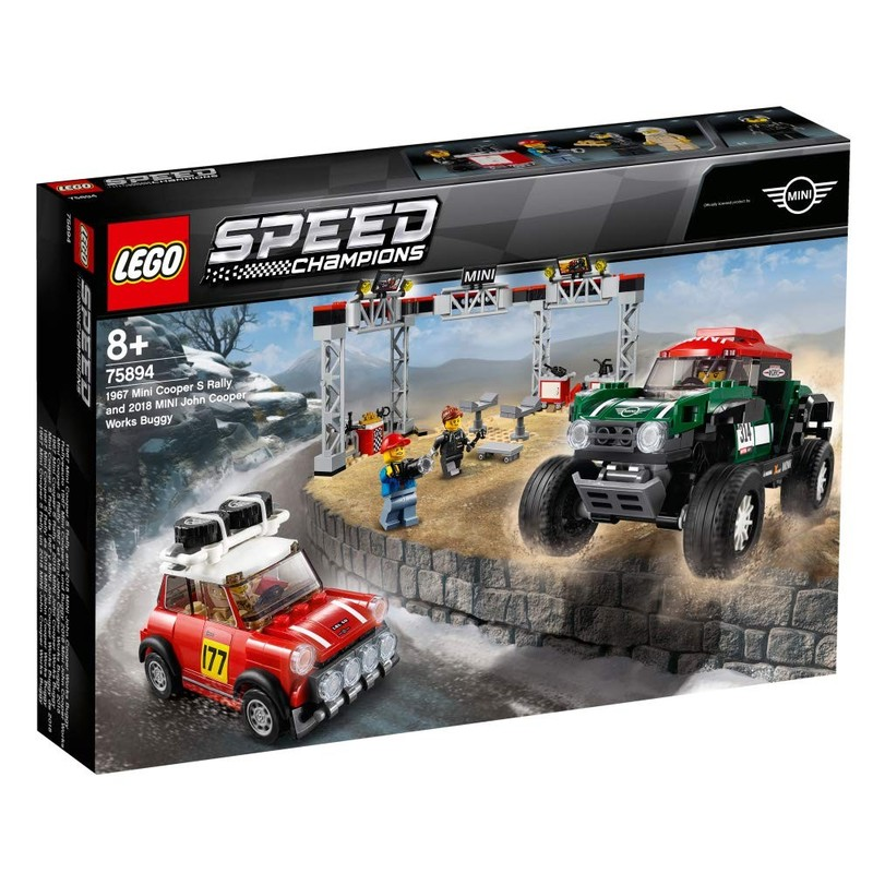 LEGO - Speed Champions 75894 1967 Mini Cooper S Rally a 2018 MINI John Cooper Works Buggy