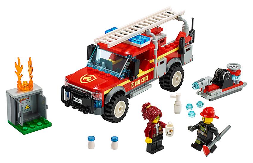 LEGO - Zásahové Vozidlo Veliteľky Hasičov