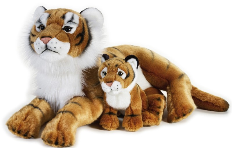 LELLY - National Geografic Veľké mačkovité šelmy 770763 Tiger s mláďatkom - 48 cm