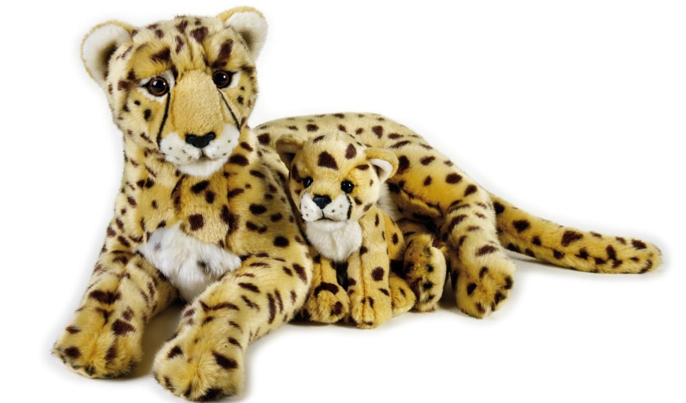 LELLY - National Geografic Veľké mačkovité šelmy 770765 Gepard s mláďatkom - 50 cm