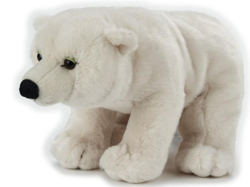 LELLY - National Geografic Základná kolekcia zvieratiek 770842 Biely medveď - 25 cm