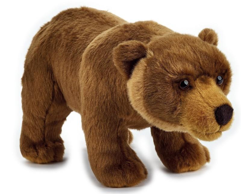 LELLY - National Geografic Základná kolekcia zvieratiek 770845 Medveď Grizly - 27 cm