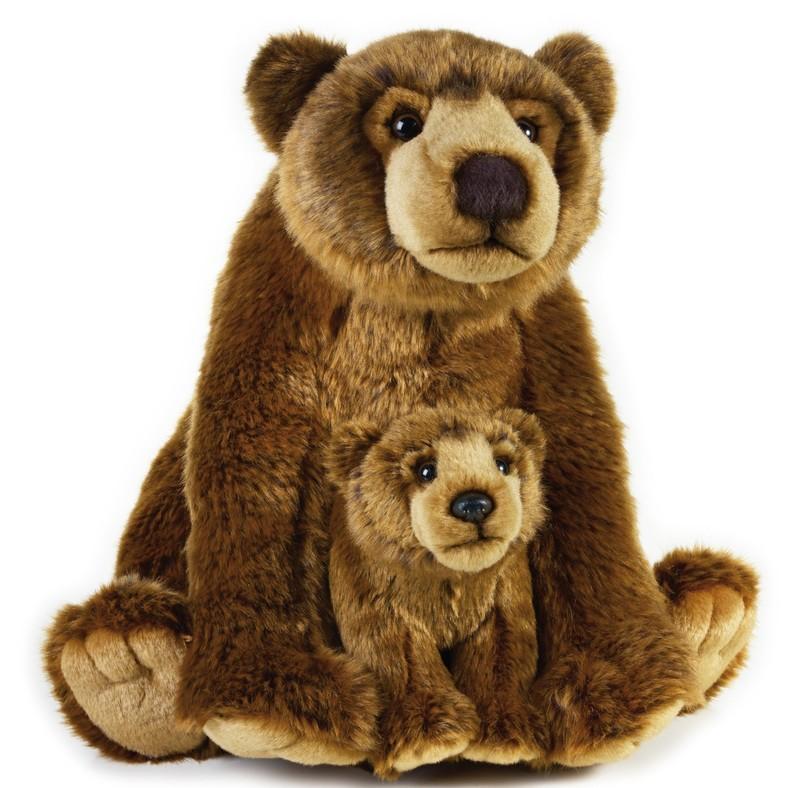 LELLY - National Geografic Zvieratká zo Severnej Ameriky 770766 Medveď Grizly s bábätkom - 31 cm