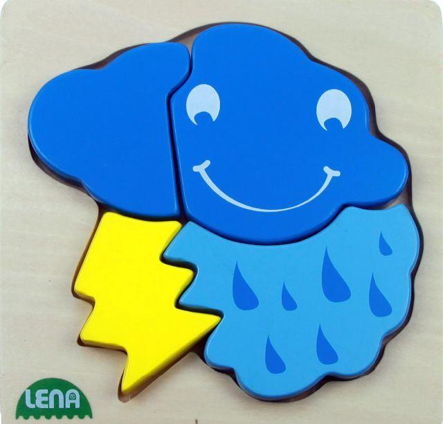 LENA - LENA Drevené puzzle Búrka 32134 - FSC