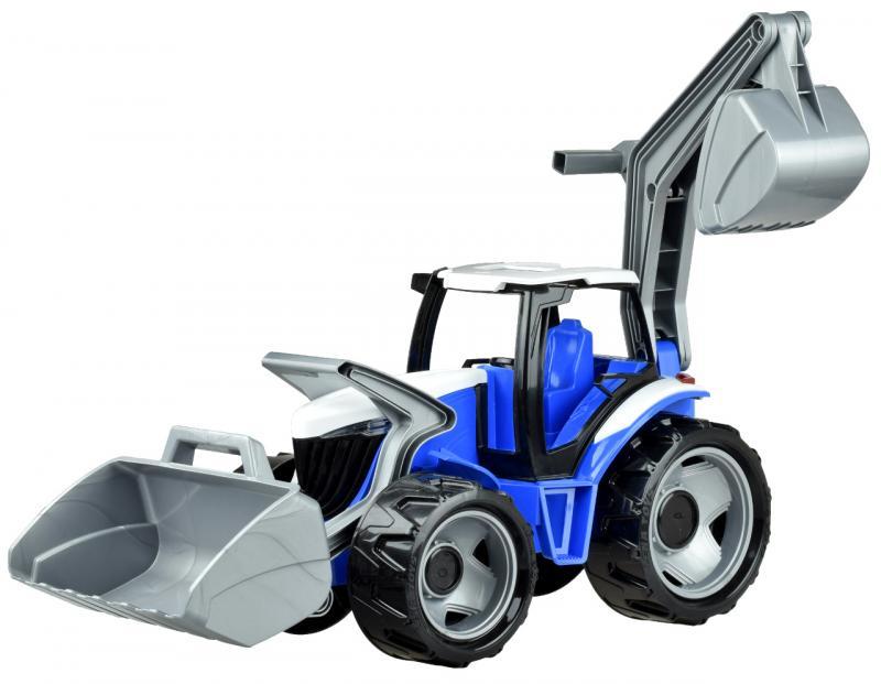 LENA - Traktor s lyžicou a bagrom, modro sivý