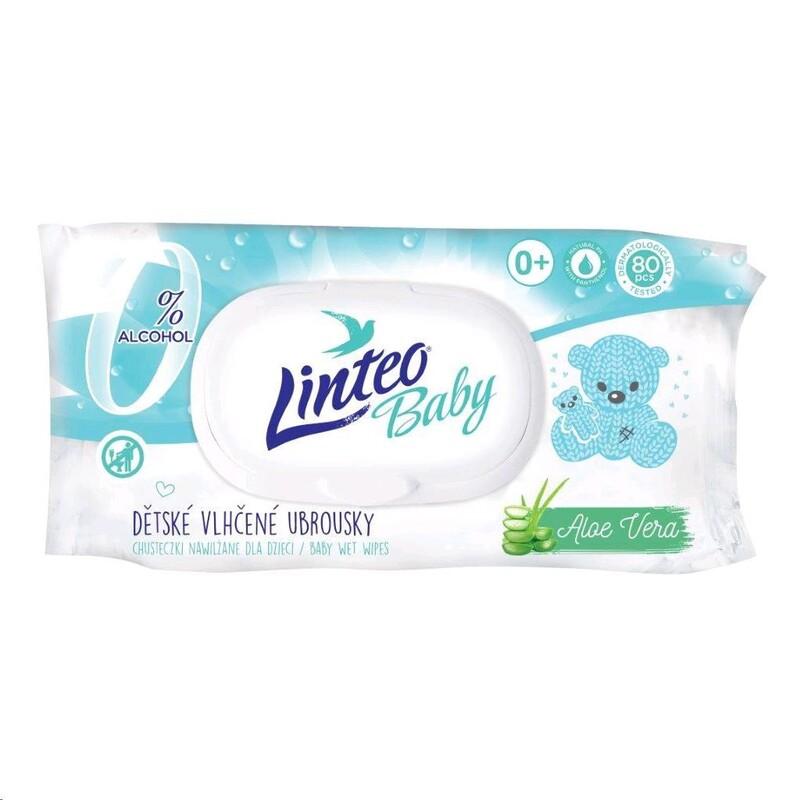 LINTEO - Detské vlhčené obrúsky Baby 80 ks Aloe Vera
