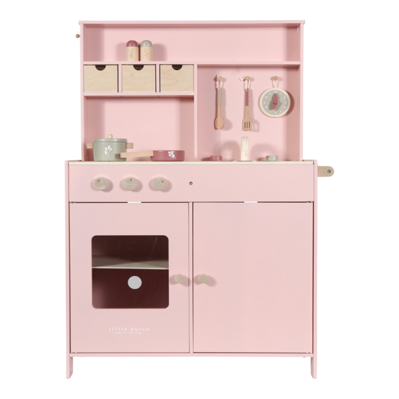 LITTLE DUTCH - Drevená ružová kuchynka