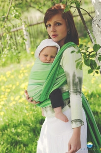 LITTLE FROG - Tkaný šatka na nosenie detí - TSAVORITE