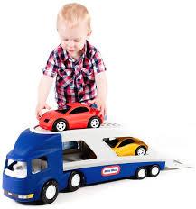 LITTLE TIKES - 170430 Ťahač s návesom na prepravu áut