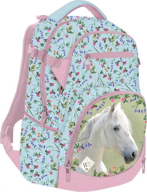 LIZZY CARD - Školský batoh Wild Beauty Biely kôň