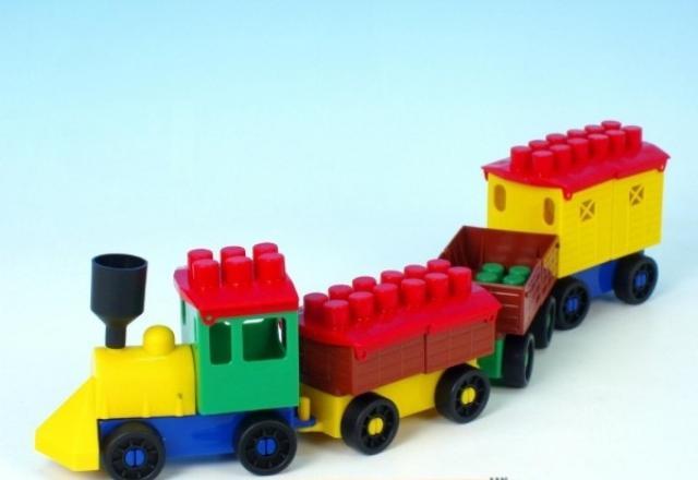 LORI TOYS - Stavebnica lori 6 - nákladny vlak
