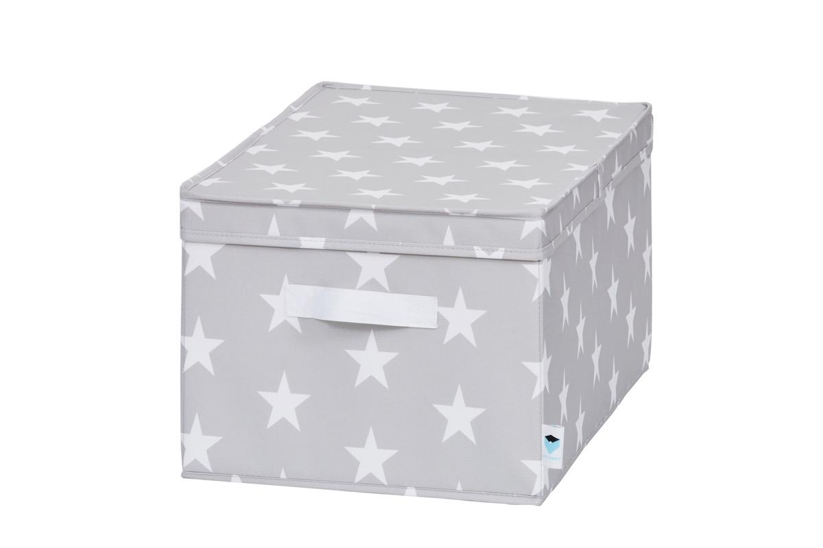 8a1a8d276 LOVE IT STORE IT - úložný box so skladacím vrchnákom, hviezda, šedá