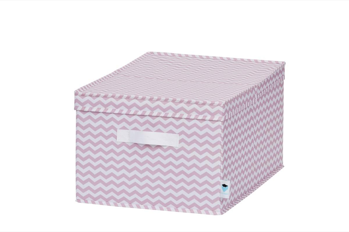 LOVE IT STORE IT - úložný box so skladacím vrchnákom, zig-zag, ružová
