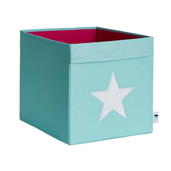 LOVE IT STORE IT - Veľký box na hračky - svetlo zelená, biela hviezda